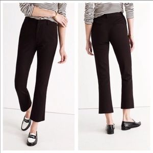 Madewell | Solid Black Demi Boot Cropped Pants